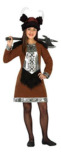 Atosa 20696 - Wikinger-Frau, Mädchenkostüm, Größe 128