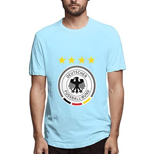 Deutschland Deutschland Logo Shirts T Männer Sport Cool T Shirt T-Shirts Für Herrenmode Casual Sky Blue -