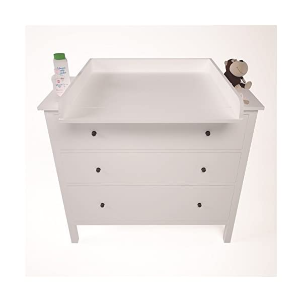 Polini Changing Board for Hemnes Chest of Drawer, White Polini Kids Ikea Malm Wickelaufsatz 3