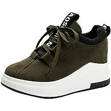 Zapatillas Deportivas de Mujer Zapatos Sneakers Altas de Encaje Casual Running Yoga Calzado Deportivo de Exterior