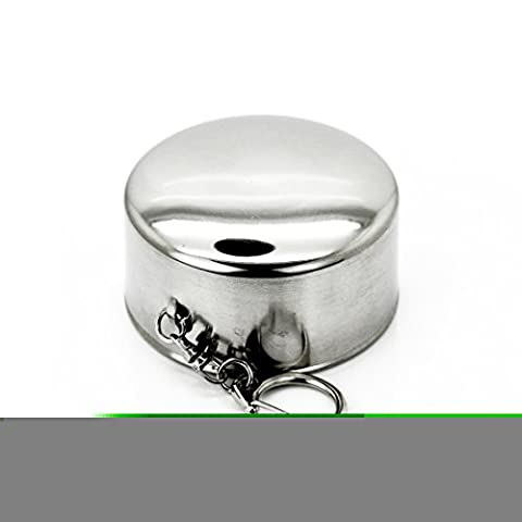 6oz Collapsible Folding Stainless Steel Cup Camping Travel Outdoor