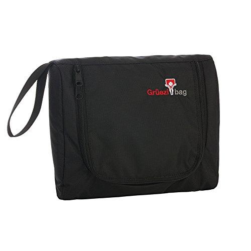 Grüezi+Bag Kulturbeutel Flatbag, Schwarz, 23 x 20 x 2 cm, 1003 (Bag Pullover Wash)