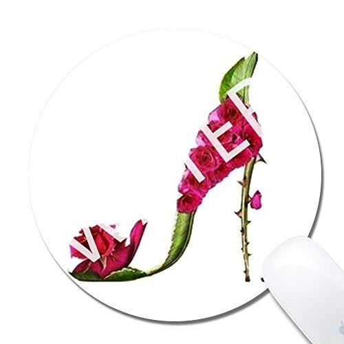 POGJY Tappetino per Mouse Scarpe a tacco alto di rose rosse Gaming Mouse Pad base Antiscivolo in Gomma Trattato Speciale Tessuto Tessuto 1T2852
