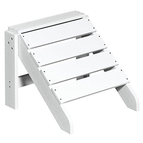 NEG Design Adirondack Fußbank MARCY (weiß) Westport-Hocker/Fußhocker aus Polywood-Kunststoff (Holzoptik, wetterfest, UV- und farbbeständig)