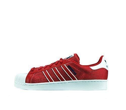 adidas Originali Superstar Scarpe da Ginnastica da Uomo S31641 Scarpe da Tennis - Rosso Blu Bianco bb5394, 41 EU