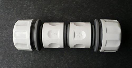 Tuyau cannelé à clipser pour tuyau de 2,5 cm (25 mm ID) C/W 2 x connecteurs de tuyau femelle 2,5 cm