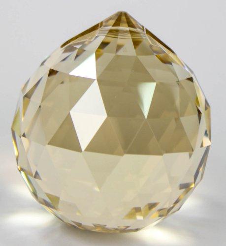 Set: Original SWAROVSKI ELEMENTS Kugel 40mm Golden Shadow / goldfarben - Feng Shui Dekorations Kristalle -