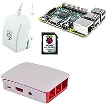 Raspberry 51586 - Mini ordenador (Cortex 1.2 GHz, memoria interna de 8 GB) rojo y blanco