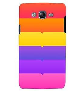 Citydreamz Colorful Horizontal Stripes Hard Polycarbonate Designer Back Case Cover For Samsung Galaxy Grand I9082