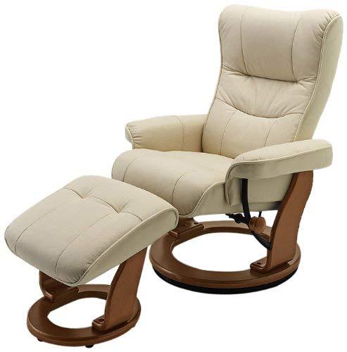 Robas Lund 64022ch5 Relaxsessel Montreal Mit Hocker Bezug Leder Creme Gestell Honigfarben 82 X 84 132 X 105 Cm