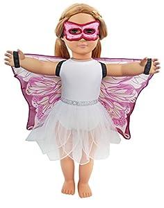DREAMY DRESS-UPS 71265 - Juego de 4 Piezas para muñecas de 46 cm, Color Rosa