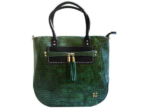 Borsa da donna Shopping Egon Furstenberg 6085 in cocco Verde YZ