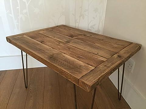 Table Bois Massif - kowoodworks-Pin recyclé Table basse rustique en bois