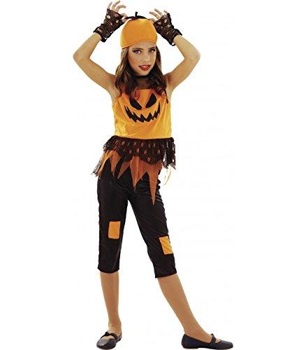 Imagen de disfrazzes  disfraz de calabaza punky para niñas de 5 a 6 años