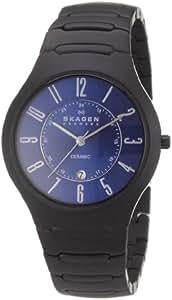 Skagen Designs UK - 817LBXNC - Montre Homme - Quartz Analogique - Bracelet Céramique Noir