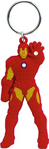Marvel Iron Man Laser Cut Rubber Portachiavi