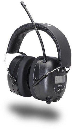 ION Audio Tough Sounds - Kabelloser Noice-Cancelling Kopfhörer inkl. Radio - Gehörschutz bis zu 23 dB - robuste Gummi-Antenne und Suchfunktion - Bedienelemente für Titelauswahl
