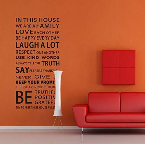 Pbldb Proverbios En Inglés Etiqueta De La Pared Reglas De La Casa De La Familia Pegatinas De Pared Calcomanía Diy Decoración Home Kids Great Gift Wallpapers