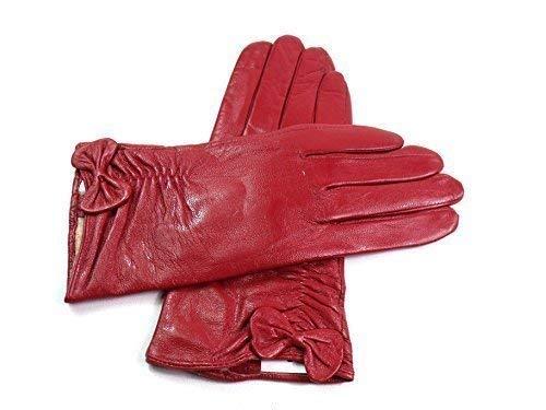 0e9d7b6e4ee1c Emporium Leather Damen Superb HOCHWERTIG Handschuhe Echtleder Voll  Kunstpelz Futter Winer Warm - Rot