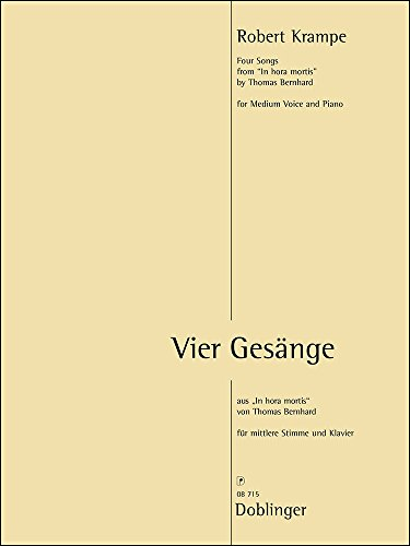 CUATRO GESäNGE – MEDIUM VOICE AND PIANO – LIBRO