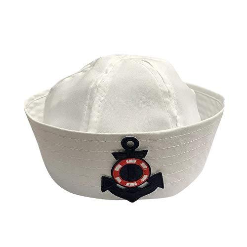 thematys® Cappello da Marinaio Costume per Uomo e Donna - Perfetto per Carnevale - Taglia Unica (B)