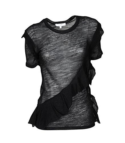 IRO Damen Shirt Venwood Aus Wolle in Schwarz BLA01 black