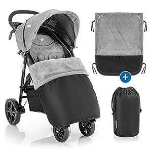 Zamboo Universal Decke Für Kinderwagen Und Buggy Wasserabweisende Outdoor Beindecke Für Sportwagen Jogger Schwarz Grau Baby