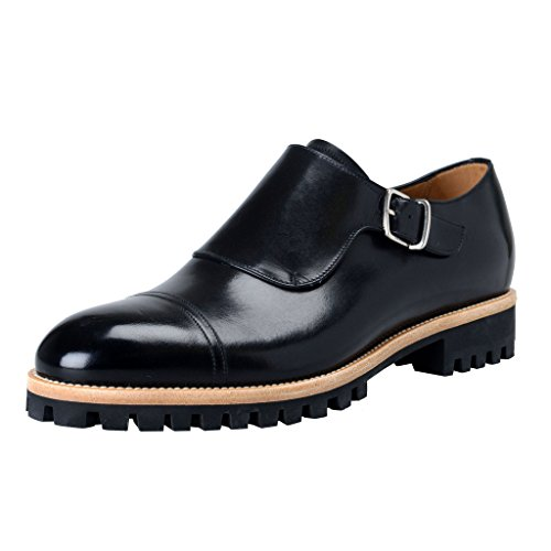 bally-switzerland-mens-black-leather-loafers-slip-on-shoes-us-9-it-8-eu-42