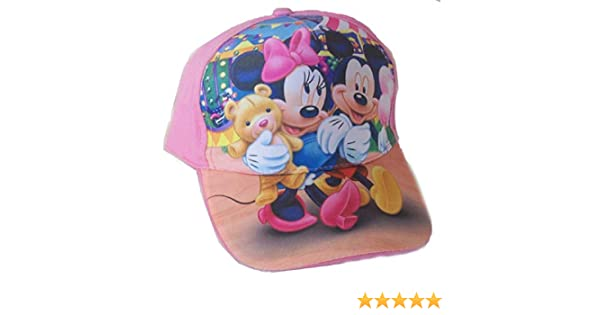 Cappello Minnie TOPOLINA Bambina Bambino Originale Disney Cappellino Berretto Rosa CAPMINROSA