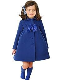 Highdas Niñas Bowknot Windbreaker otoño invierno Outwear vestido de abrigo 110-140