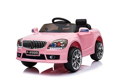 Toyas Kinder Elektro Auto Sportwagen Cabrio Kinderfahrzeug Akku RC LED BLJ9819 Rosa