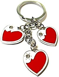 Niteo Love Metal Keychain / Love Keychain For Couple / Love Keychain For Bike