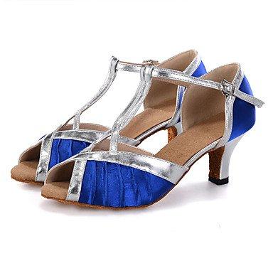 Scarpe da ballo-Personalizzabile-Da donna-Danza del ventre / Balli latino-americani / Jazz / Sneakers da danza moderna / Moderno / Samba Blue