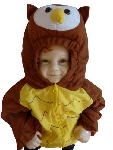 F89 Eule Kinderjacke Gr. 86-92 für Babies und Kleinkinder, nicht nur für den Karneval und Fasching, Ihr Kind wird es den ganzen Winter lieben!