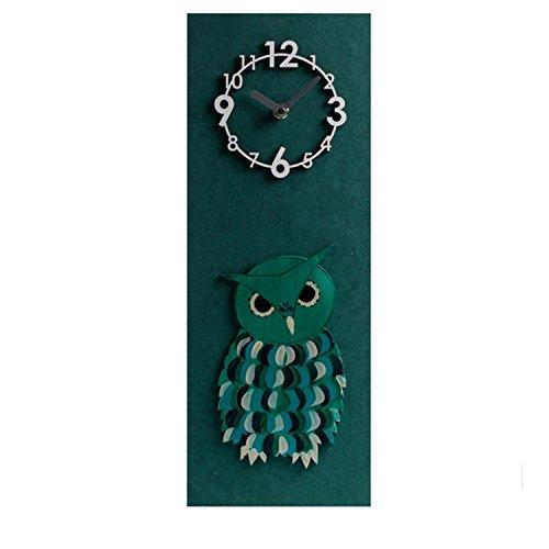 Mjb 3 d Reloj de Marco Verde Búho Decoración Pintura Ideas