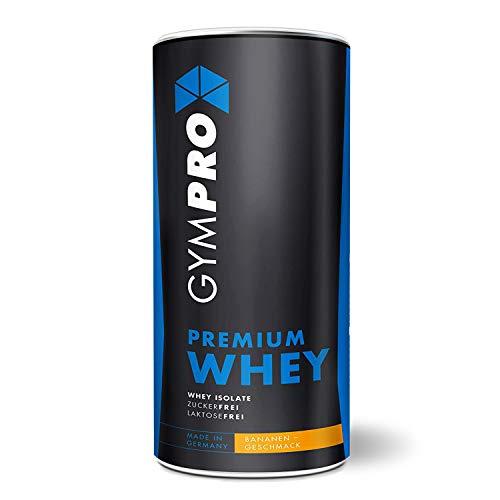 GymPro Premium Whey Protein Pulver zum Muskelaufbau und Abnehmen. Hydrolisiertes Whey Isolat & Whey-Konzentrat Eiweiß mit Aminosäuren (BCAA) laktosefrei - Hergestellt in Deutschland (Banane, 1000g)