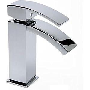 Eisl, grifo mezclador monomando para lavabo de cascada, NI075WFCR