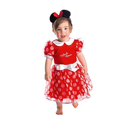CMIN-DRR-06 - Kostüm - Minnie Maus Kleid mit Stirnband, rot (Baby Minnie Maus Kostüme)