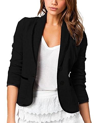Tittle:Turbomsun Damen Kurze Blazer Elegant Langarm Jacke mit zwei Knöpfen Kurzjacke Anzug Outwear Mantel Freizeit Oberteile Slim Fit Frauen Jäckchen Tops.(Größe S-6XL)