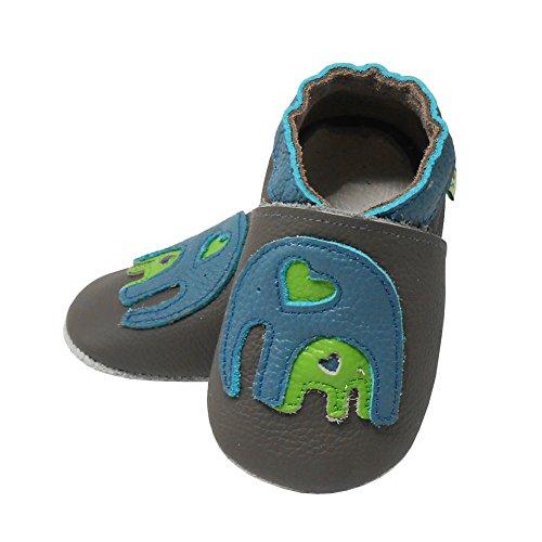 Sayoyo Walker De Sapatos Couro Rastejando Cinza Macio Bebê Elefante Sapatos Sapatos YdxwUdq