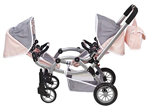 Deluxe Twin 2 in 1 Doll Stroller/Pram Extra Tall 30.5 High by Me & My Doll Collection (Stroller Doll Twin)