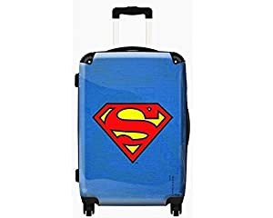 "Superman Suitcase - 20"" 4 Wheeled Trolley Case, Cabin Luggage"