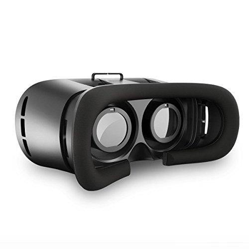 Esky ES-VR01 3D VR Brille Box Einstellbar Virtual Reality Video Movie Game Brille Headset für Smartphones, Android, IOS Handys, 3D-Filme und Spiele, schwarz