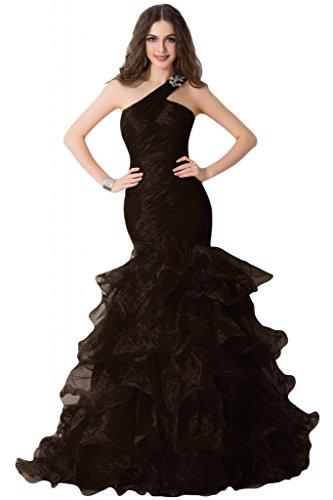 Sunvary Charming One, spalle, vestito da sera Gowns Pageant rouches abito da sera Cioccolato
