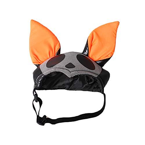 Mütze Kostüm Stirnband Top - Katzenhut Halloween Stirnband Atmungsaktiv Haustier Fledermaus Hut Top Cap für Katze Hund