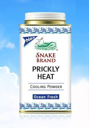 Snake Brand Prickly Heat Cooling Powder Ocean Fresh 150g by Snake Brand
