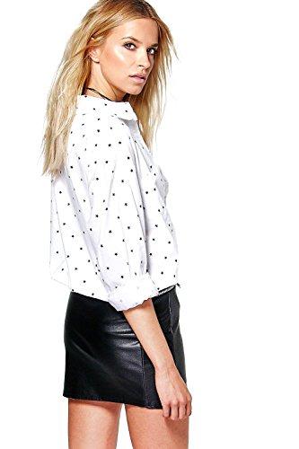 Noir Hommes Eva Star Impression Oversized Shirt Noir