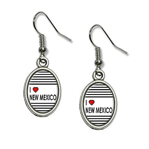 I love Herz New Mexiko Neuheit Dangling Drop oval
