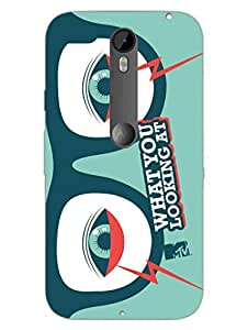 Moto X Style Back Cover - MTV Gone Case - What You Looking At - Cosmos - Designer Printed Hard Shell Case