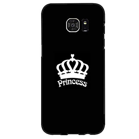 Cool Crown Design Princess Phone Case Cover Customized Shell for Samsung Galaxy S7 Edge Princess Exquisite